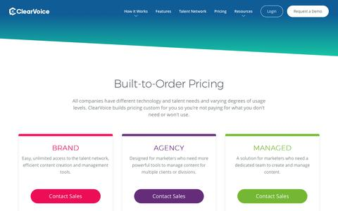 Pricing Options | ClearVoice