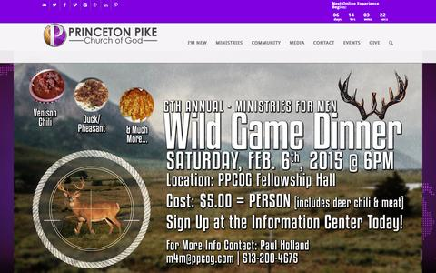Screenshot of Home Page ppcog.com - Princeton Pike Church of God - captured Jan. 31, 2016