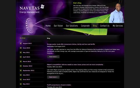 Screenshot of Blog navetas.com - Blog | Navetas Energy Management - captured Sept. 16, 2014