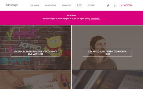 Screenshot of Blog 62design.co.uk - Blog | 6-2 design - captured Feb. 24, 2016