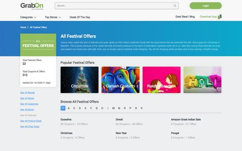 Festival Offers, Coupons | Online Shopping Offers