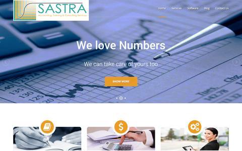 Screenshot of Home Page Services Page sastra.com.au - Sastra - captured Oct. 3, 2014