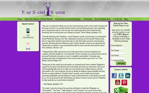 Screenshot of Testimonials Page yoursocialsource.com - Testimonials   Your Social Source - captured Oct. 7, 2014