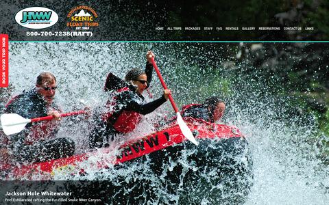Screenshot of Home Page jhww.com - Jackson Hole Whitewater  Jackson Hole Whitewater and Teton Expeditions - captured Oct. 6, 2014