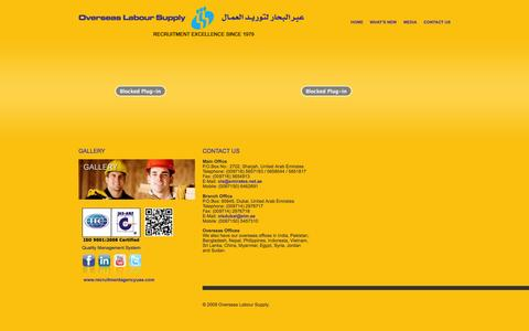 Screenshot of Contact Page olsuae.com - Recruitment Agency in Dubai | Overseas Labour Supply - captured Oct. 26, 2014
