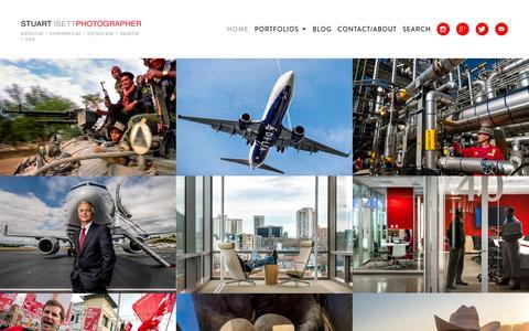 Screenshot of Home Page isett.com - Seattle Photographer Stuart Isett - Editorial  Corporate - captured Jan. 4, 2017