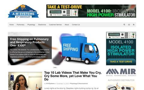 Screenshot of Blog a-msystems.com - Home - A-M Systems - captured Nov. 16, 2016