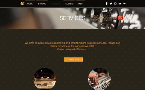 Screenshot of Services Page trodnossel.com - Trod Nossel Recording Studios | Services - captured Nov. 19, 2018