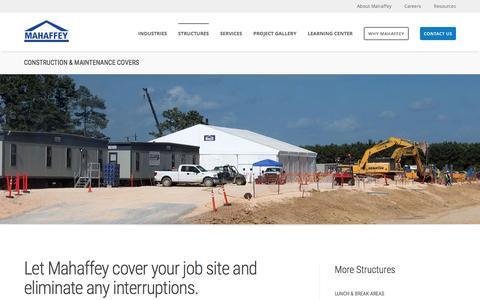 Screenshot of mahaffeyusa.com - Construction and Maintenance Covers - captured March 20, 2016