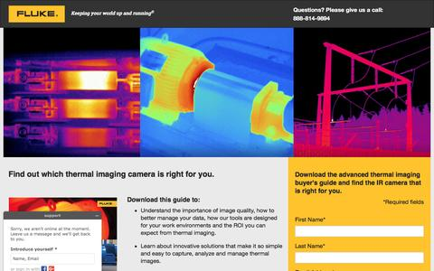 Screenshot of Landing Page fluke.com - Download the Advanced Thermal Imaging Buyers Guide and find the IR camera that is right for you - captured March 24, 2017