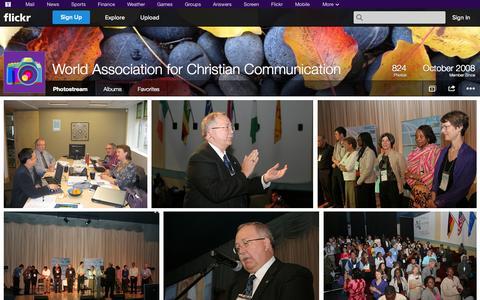 Screenshot of Flickr Page flickr.com - Flickr: World Association for Christian Communication's Photostream - captured Oct. 26, 2014