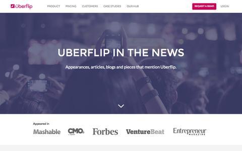 Screenshot of Press Page uberflip.com - News & Press   Uberflip - captured Oct. 2, 2015