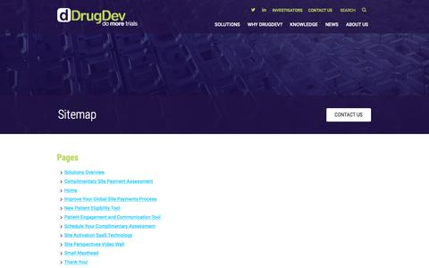 Screenshot of Site Map Page drugdev.com - Sitemap | DrugDev - captured Dec. 6, 2016