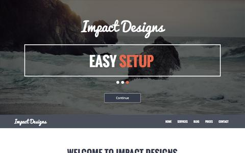 Screenshot of Home Page Contact Page Services Page impactdesigns.org - Home Image Slider | Impact Designs - captured Oct. 6, 2014