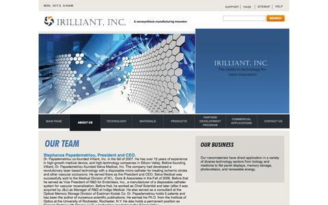 Screenshot of Team Page irilliant.com - Irilliant's team. - captured Oct. 6, 2014
