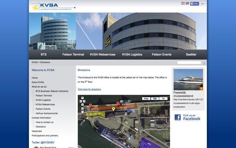 Screenshot of Maps & Directions Page kvsa.nl - KVSA van Halverhout & Zwart en Zurmühlen B.V. - captured Oct. 1, 2014