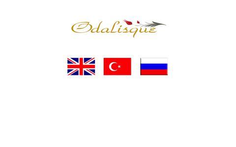 Screenshot of Home Page odalisquelingerie.com - Odalisque Lingerie - captured Oct. 4, 2014