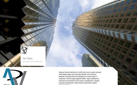 Screenshot of Team Page alliancevp.com - Team | Alliance Venture Partners - captured Oct. 4, 2014