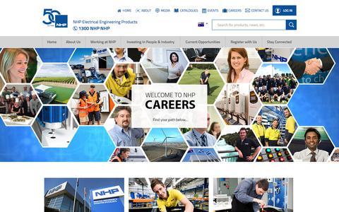 Screenshot of Jobs Page nhp.com.au - Careers at NHP - captured May 27, 2018
