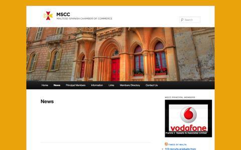 Screenshot of Press Page mscc.org.mt - News | www.mscc.org.mt - captured Oct. 4, 2014