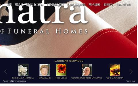 Screenshot of Home Page sinatraffh.com - Sinatra - captured Nov. 17, 2015