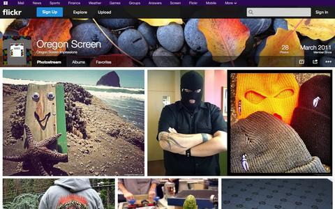 Screenshot of Flickr Page flickr.com - Flickr: Oregon Screen Impressions' Photostream - captured Oct. 26, 2014