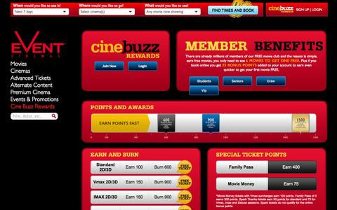 Screenshot of Signup Page Login Page eventcinemas.co.nz - Join our member programs - captured Oct. 22, 2014