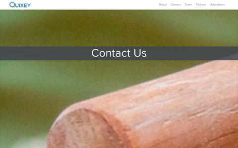 Screenshot of Contact Page quixey.com - Contact us at Quixey, The Search Engine for Apps - captured Sept. 10, 2014