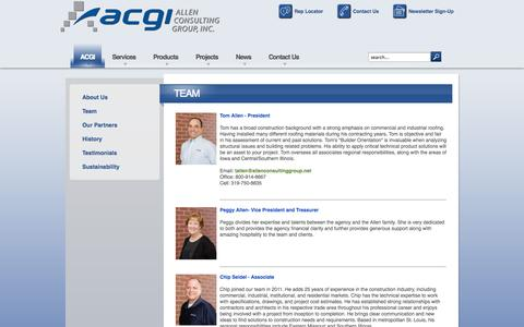 Screenshot of Team Page allenconsultinggroup.net - Our team - captured Oct. 4, 2014