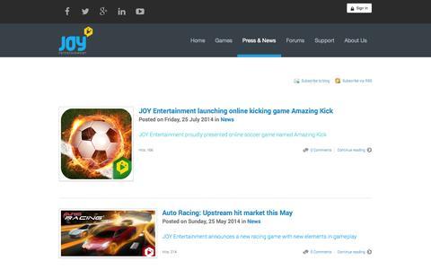 Screenshot of Press Page joy-entertainment.com - Recent blog posts - JOY Entertainment - - captured Oct. 29, 2014