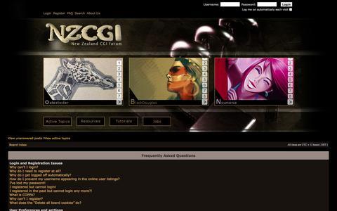 Screenshot of FAQ Page nzcgi.com - NZCGI Forum - captured Oct. 8, 2014