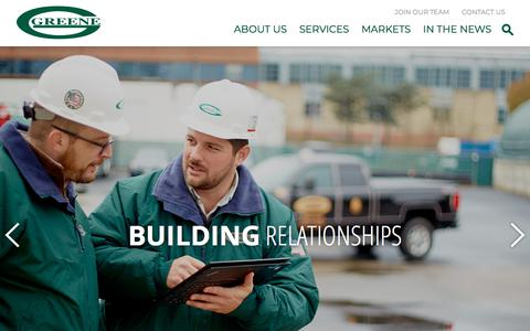 Screenshot of Home Page ggreene.com - Home - G Greene Construction Co., Inc - captured Sept. 25, 2018