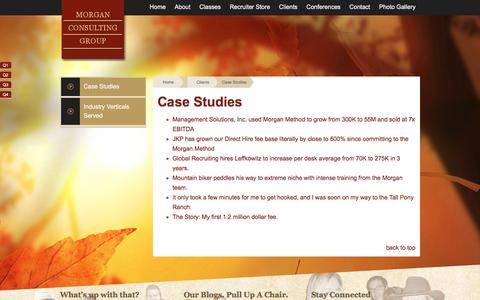 Screenshot of Case Studies Page morgancg.com - Case Studies - Morgan Consulting Group - captured Oct. 21, 2017