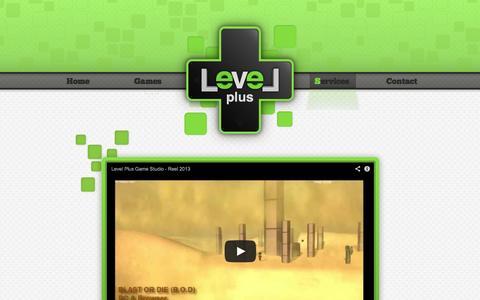 Screenshot of Services Page levelplusgames.com - Services   Level Plus Game Studio - captured Oct. 2, 2014