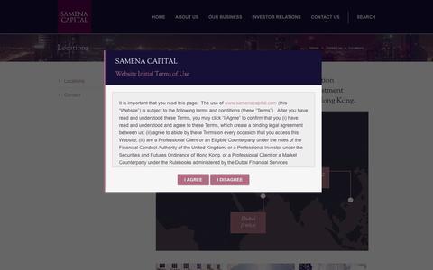 Screenshot of Locations Page samenacapital.com - Samena Capital - Locations - captured May 26, 2017