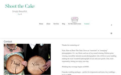 Screenshot of Contact Page shoot-the-cake.com - Contact - Shoot the Cake - captured June 19, 2016