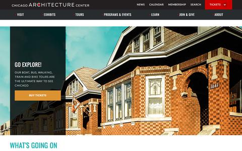 Screenshot of Home Page architecture.org - Chicago Architecture Center - CAC - captured Sept. 24, 2018