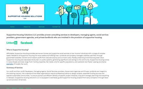 Screenshot of Home Page supportivehousingsolutions.com - Supportive Housing Solutions - captured Oct. 7, 2014