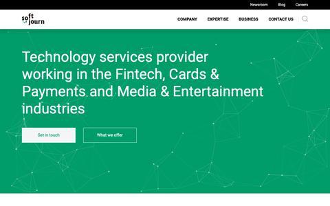 Screenshot of Home Page softjourn.com - Custom Software Development Services | SoftJourn, Inc. - captured Dec. 21, 2018