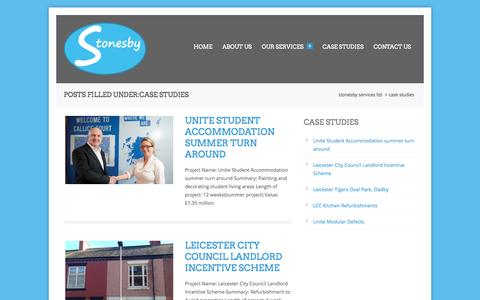 Screenshot of Case Studies Page stonesbyservices.co.uk - Case Studies Archives - Stonesby Services Ltd - captured Oct. 7, 2014