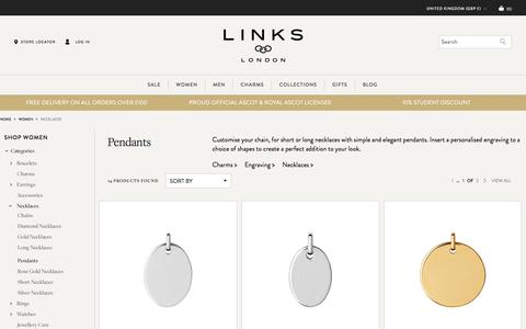 Women's Pendants | Pendant Necklaces | Links of London | Links of London