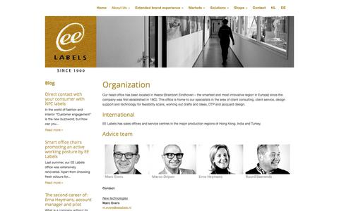 Screenshot of Team Page eelabels.com - People - EE Labels - captured July 14, 2018