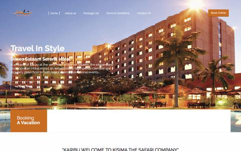 Screenshot of Home Page kisimatouring.com - Home - captured Oct. 16, 2017