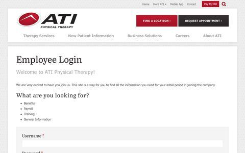 Screenshot of Login Page atipt.com - User account   ATI - captured Aug. 2, 2017