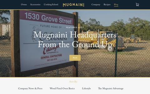 Screenshot of Blog mugnaini.com - Blog — Mugnaini - captured Aug. 27, 2016