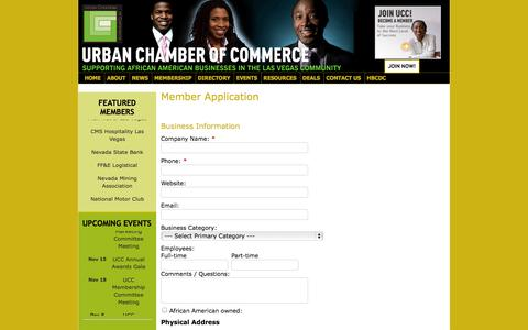 Screenshot of Signup Page urbanchamber.org - Member - Urban Chamber of Commerce - captured Oct. 26, 2014