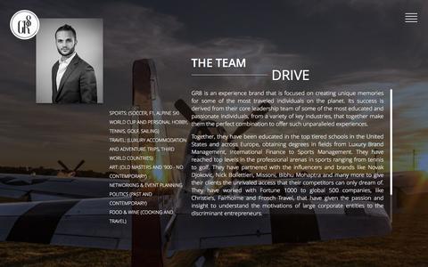 Screenshot of Team Page gr8-group.com - GR8 Group | The Team - captured Dec. 6, 2015