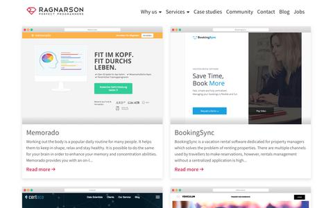 Screenshot of Case Studies Page ragnarson.com - Ragnarson - Ruby on Rails, JavaScript and DevOps teams for hire - captured June 11, 2017