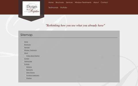 Screenshot of Site Map Page designbydaphne.com - Interior Design Service - captured Feb. 9, 2016