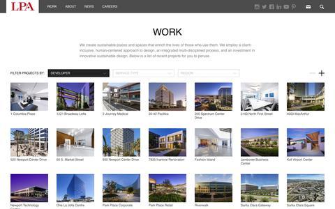 Screenshot of Developers Page lpainc.com - Work | LPA Inc. - captured Dec. 7, 2018